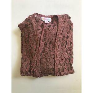 Lularoe Small Rose Lace Joy Vest
